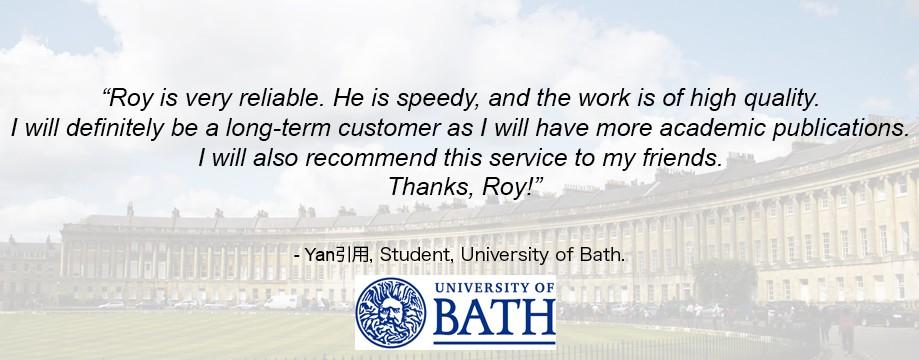 Bath student testimonial slide